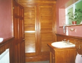 Antique pine stained bathroom