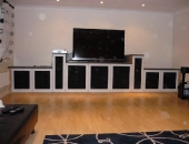 av-unit-with-cloth-speaker-grilles-in-doors