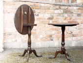 heavily-distressed-antique-pedestal-tables
