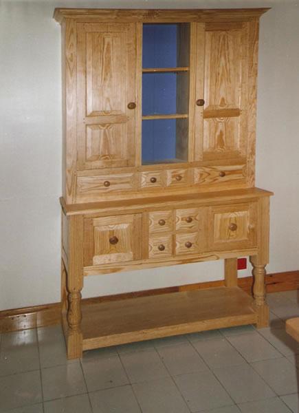 yellow-pine-dresser-with-open-rack