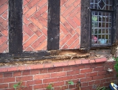 removing rotten timber