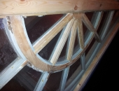 victorian porch renovated glazing spokes