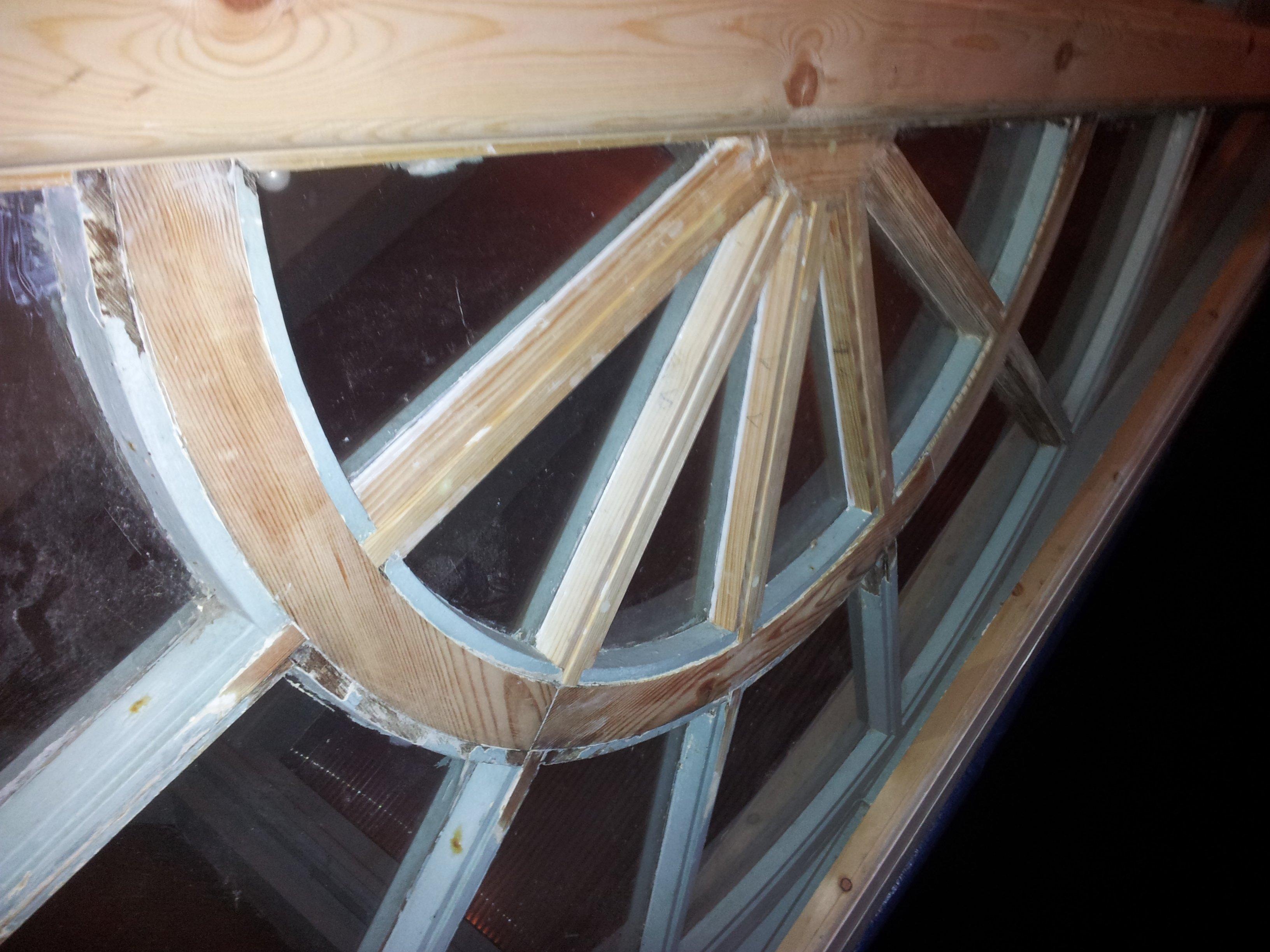victorian porch renovated glazing spokes