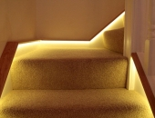 Close up picture of the LED's, an effective way to modernise a staircase