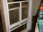 Traditional sliding sash window with lead weights
