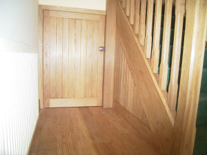 Understairs oak cupboard door