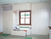 Tiered wardrobe painting\'s finished.