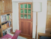 Mahogany stable door modern draught seals were fitted to the frame and-threshold-also-to-the-middle-of-the-door-join