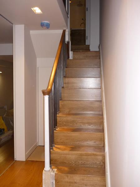 oak clad original stair case