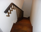 Cantilever stairs and oak handrail