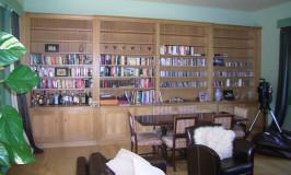 Large shaker style oak bookcase