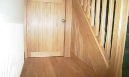 Understairs oak cupboard door